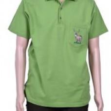 Тениска тип лакоста с бродерия елен
